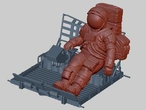 Apollo Astronaut a7lb Type / LGV left 1: 24 / 1:20 in White Natural Versatile Plastic: 1:24