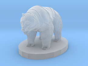 Armored Bear in Smooth Fine Detail Plastic