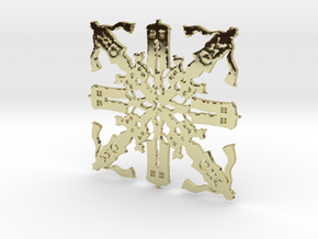 Doctor Who: Fourth Doctor Snowflake in 18k Gold