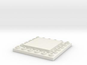 CustomMaker BrickFrame LowProfile 6x6x2 in White Natural Versatile Plastic