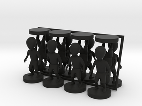 small figures kit for Strategist in Black Natural Versatile Plastic