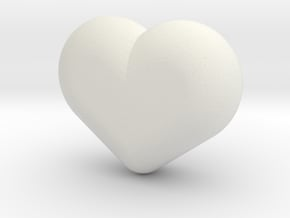 Cute candy HEART in White Natural Versatile Plastic