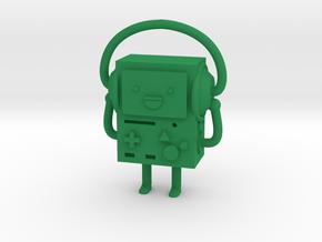 BMO with headphones in Green Processed Versatile Plastic
