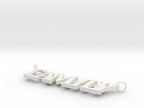 Family Pendant in White Natural Versatile Plastic