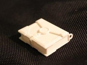 """""""The Traveler"""" Locket (4cm, No Symbol) in White Processed Versatile Plastic"""