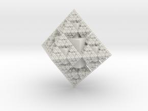 Snowflake Fractal in White Natural Versatile Plastic