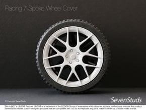 Racing Wheel Cover 03_56mm in White Natural Versatile Plastic