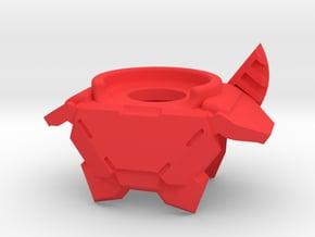 Titan Fin Armor in Red Processed Versatile Plastic