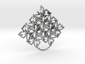 Pattern Dimond in Fine Detail Polished Silver