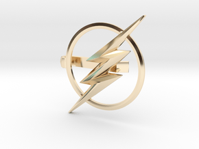 Flash tie clip in 14k Gold Plated Brass