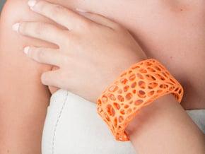 Cells Cuff (Size L) in Orange Processed Versatile Plastic