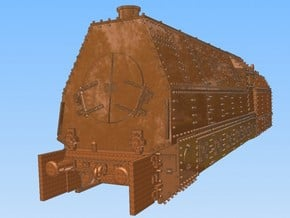 1-148 BR 57 Armored Locomotive For BP-42 in White Natural Versatile Plastic