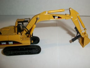 HO 1:87 excavator thumb in Smooth Fine Detail Plastic