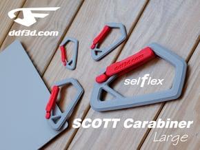 SCOTT Carabiner *Large* DH007SW in White Natural Versatile Plastic