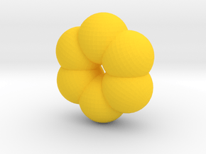Cute candy DONUT in Yellow Processed Versatile Plastic