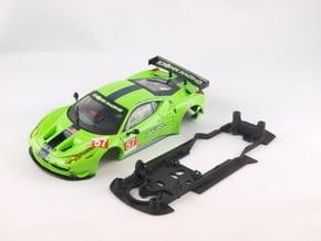 S08-ST2 Chassis for Carrera Ferrari 458 GT2 STD/ST in Black Natural Versatile Plastic