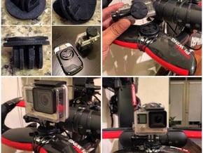 Garmin Edge Quarter Turn Male To GoPro Female Moun in Black Natural Versatile Plastic