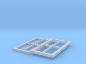 Signalbox Window March South 2 in Smooth Fine Detail Plastic