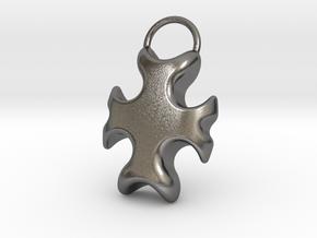 Cross Bottle Opener in Polished Nickel Steel