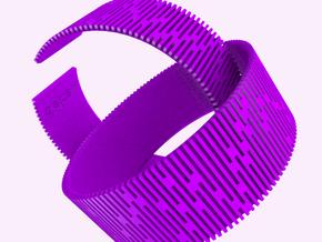 Crescent Bracelet (S) in White Natural Versatile Plastic