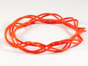 Twist Bangle  C01L in Orange Processed Versatile Plastic