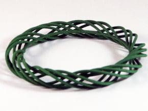 Twist Bangle C02L in Green Processed Versatile Plastic