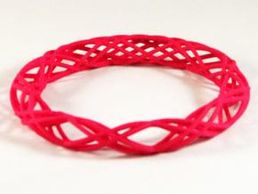 Twist Bangle  C04L in Pink Processed Versatile Plastic