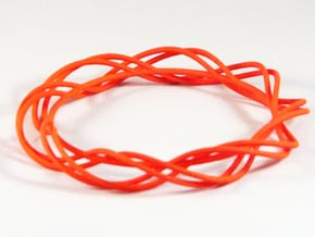 Twist Bangle C01M in Orange Processed Versatile Plastic