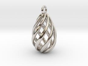 Swirl Pendant in Rhodium Plated Brass