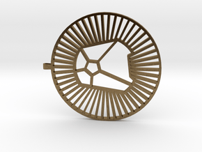 { simple design } 'A'  in Natural Bronze