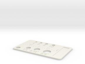 Simpler Screw Sizes Key Chain in White Natural Versatile Plastic