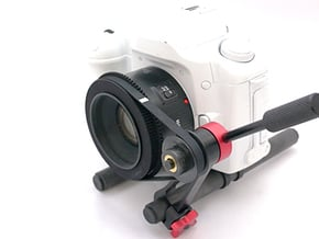 Nifty Fifty (Canon 50mm F1.8) Follow Focus Adapter in White Natural Versatile Plastic