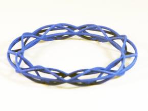 Twist Bangle A08L in Blue Processed Versatile Plastic
