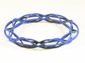 Twist Bangle A08M in Blue Processed Versatile Plastic