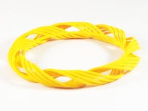 Twist Bangle  C05L in Yellow Processed Versatile Plastic