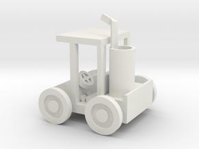 Small Golf Car in White Natural Versatile Plastic