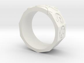 AdventureRing215 in White Natural Versatile Plastic