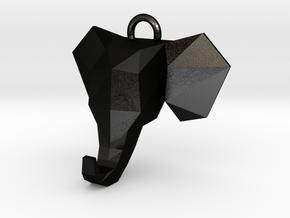 Elephant Pendant in Matte Black Steel
