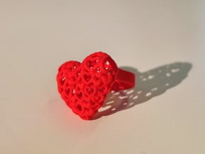 Heart by Heart ring in Red Processed Versatile Plastic