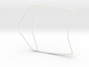Window Frame 911 RSR scale 1/12 in White Processed Versatile Plastic