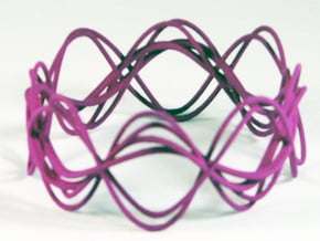 Wave Bangle B25L in Purple Processed Versatile Plastic