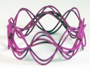 Wave Bangle B25M in Purple Processed Versatile Plastic