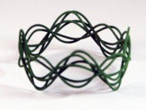 Wave Bangle B02L in Green Processed Versatile Plastic