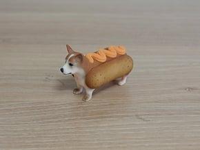 hotdog Welsh Corgi in Full Color Sandstone