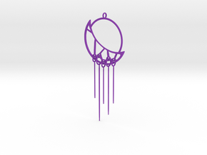Eclipse Pendant in Purple Processed Versatile Plastic
