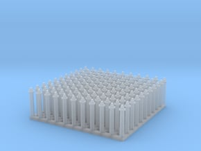 """1:24 Hex Nut-Bolt-Washer Set (Size: 0.5"""") in Smooth Fine Detail Plastic"""