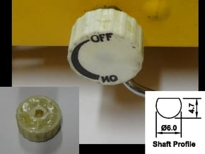 Replacement Knob for Gasmate Portable LPG Cooker in White Natural Versatile Plastic