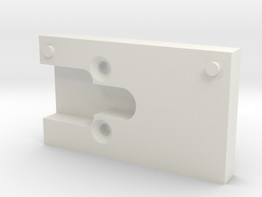 Airsoft WE G Series 17 Mount for Micro Red Dot Sig in White Natural Versatile Plastic