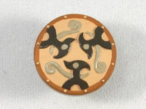 Braced Shield in Smooth Fine Detail Plastic