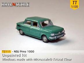 NSU Prinz 1000 (TT 1:120) in Smooth Fine Detail Plastic